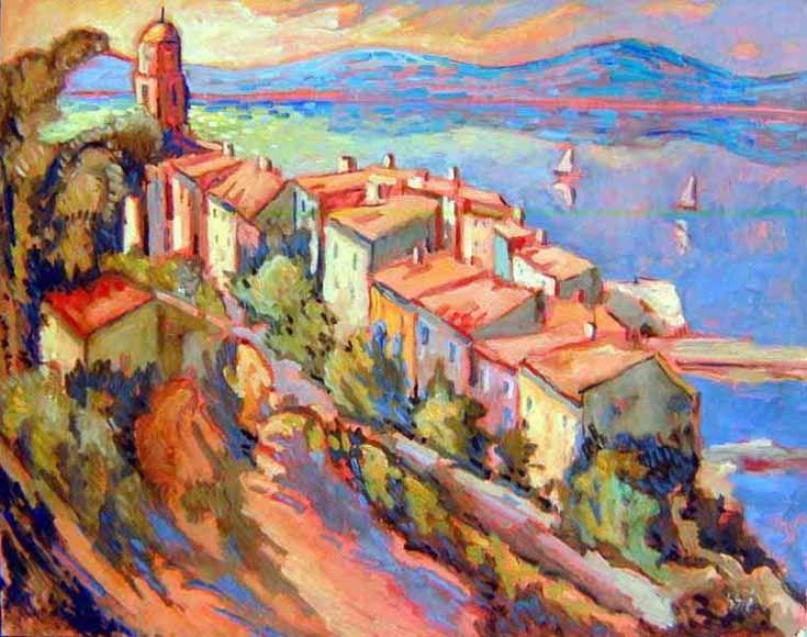 Henri Sie Saint Tropez Vu De La Citadelle Les Arts Comment