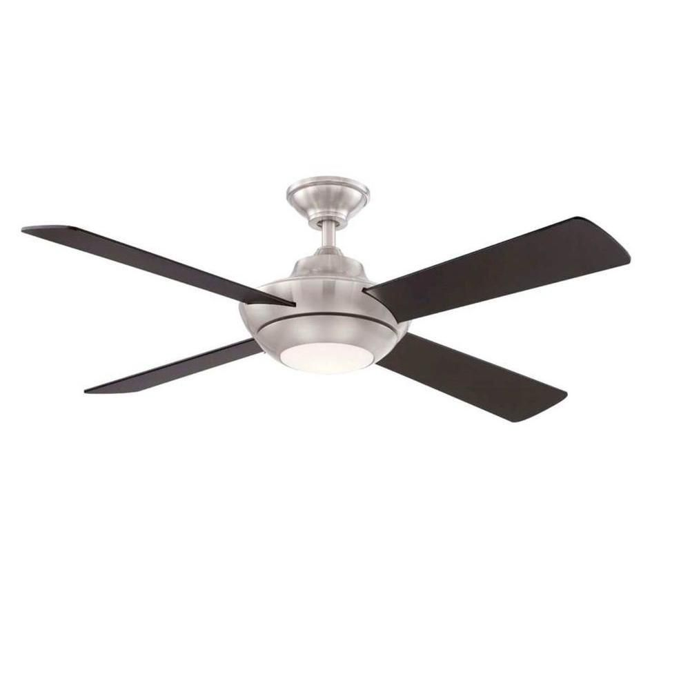 Home Decorators Collection Moonlight Ii 52 In Led Indoor Brushed Nickel Ceiling Fan With Light Kit And Remote Control Ag942led Bn The Home Depot Brushed Nickel Ceiling Fan Ceiling Fan Ceiling Fan
