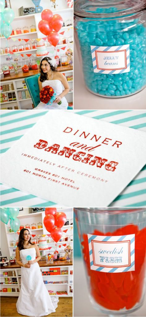 LOVE this candy shoppe wedding invitation