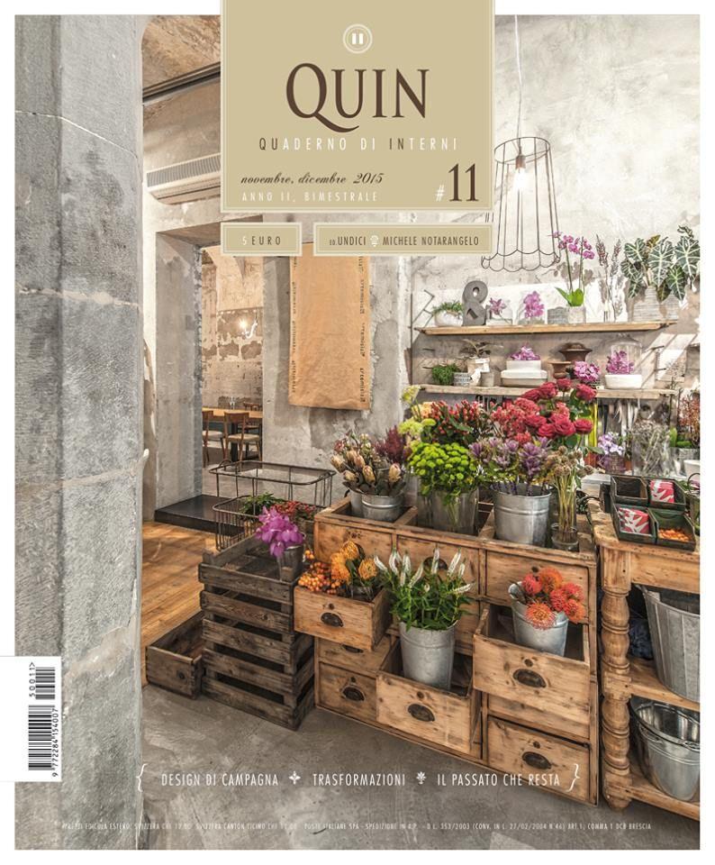 Quin magazine quaderno di interni design food for Rivista interni