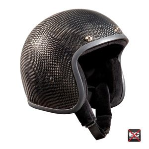 Bandit Open Face Jet Helmets Bandit Full Face Carbon Black Jet