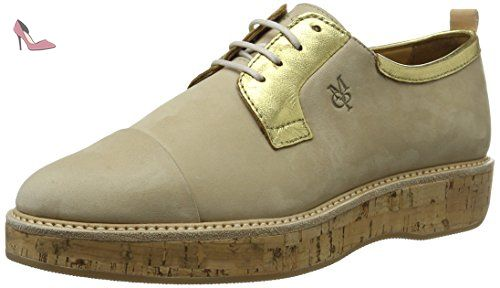 Marc O'Polo 70113843401200 Lace Up, Chaussures à Lacets Femme, Mehrfarbig (Sand/Gold), 38 EU