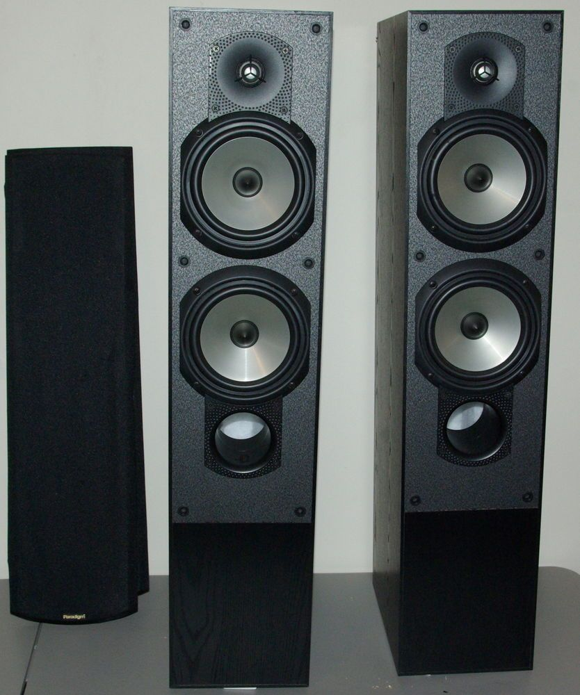 home theater tower speakers. 2 home theater paradigm front tower speakers phantom v.3