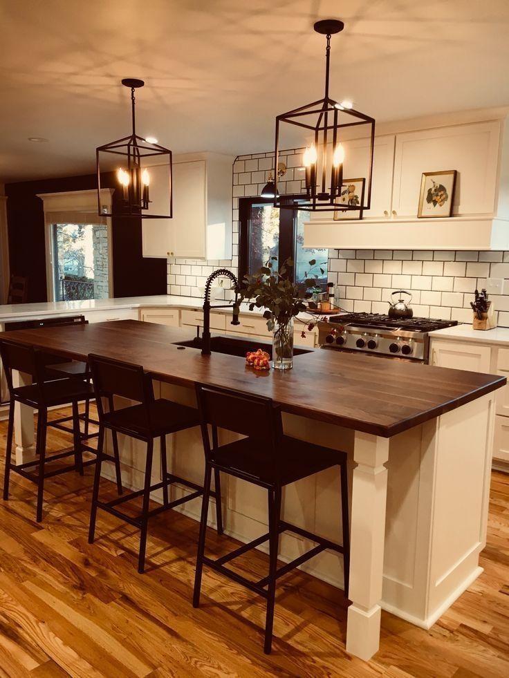 37+ Farmhouse kitchen island with seating ideas