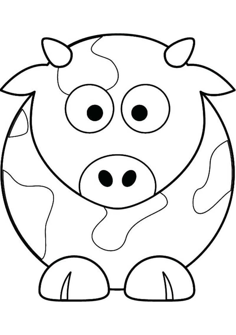 Cute Cow Coloring Pages Ideas Cow coloring pages, Cow