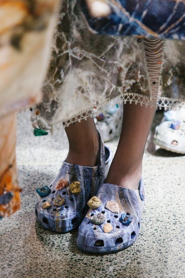 f0c24a668a33 Christopher Kane s Crystal-Embellished Crocs  Would You Wear Them