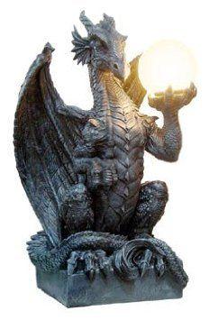 sitting dragon lamp