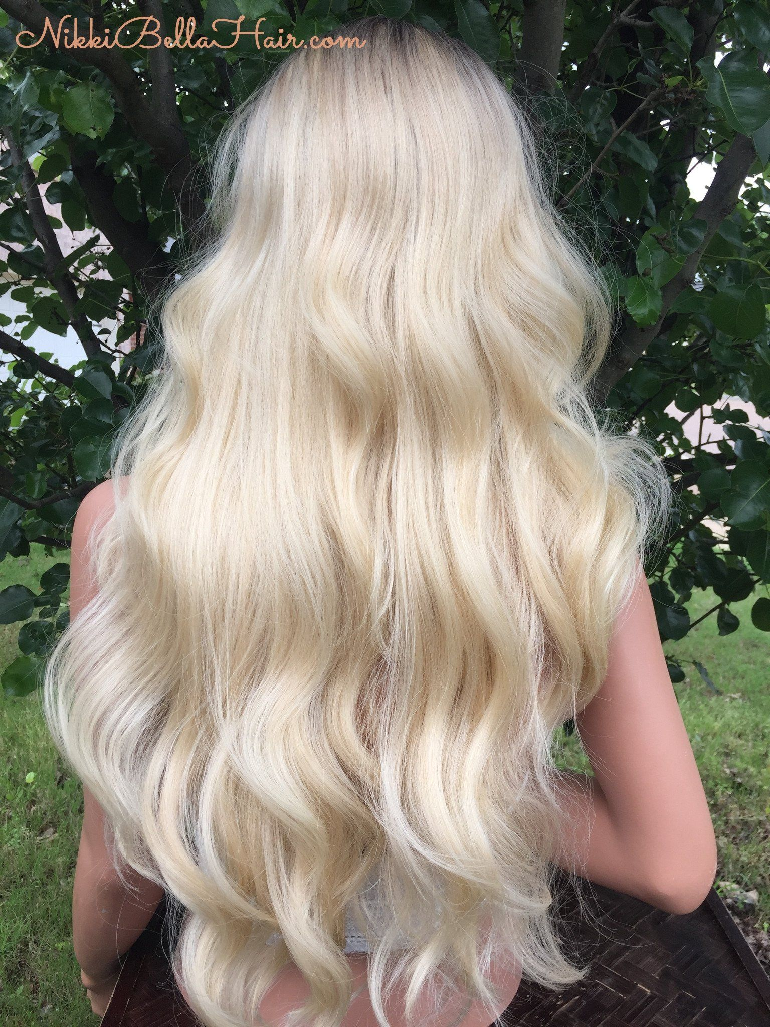 Light Platnium Blond Ombre 20 Full Wig #blondeombre
