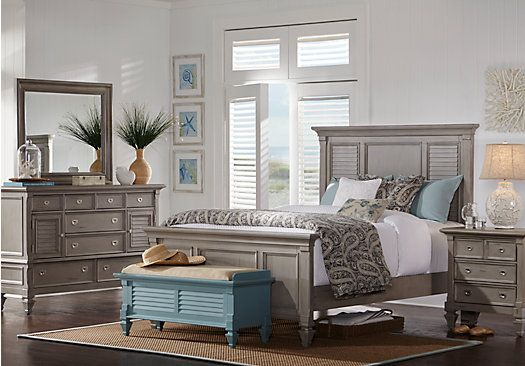 Belmar Gray 5 Pc Queen Bedroom | BEDROOM DECOR | King size bedroom ...