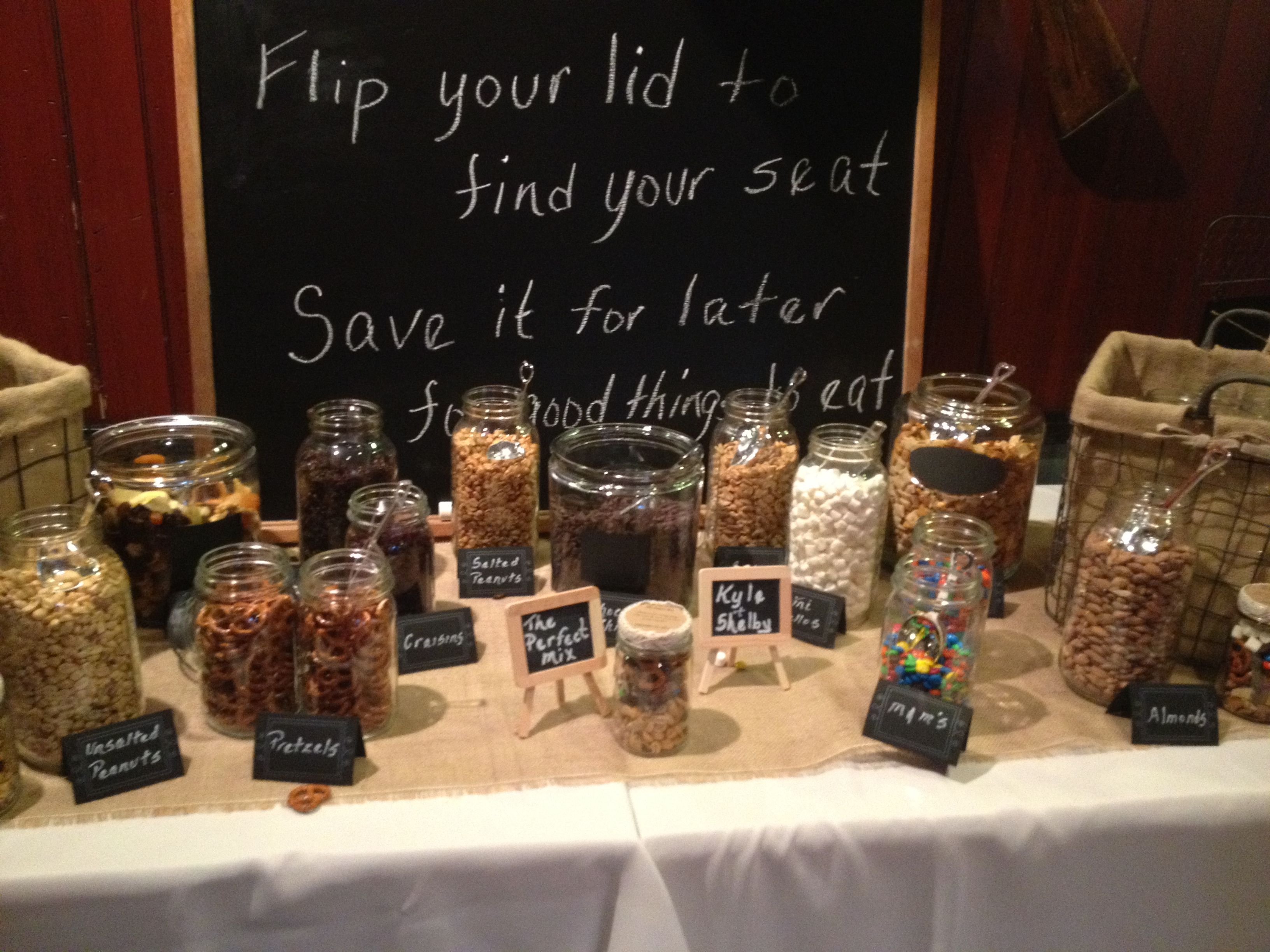 Sample Wedding Trail Mix Bar Table 5 | Albany Wedding DJ | Sweet ...