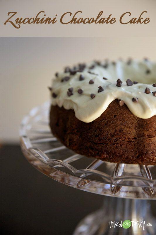 Zucchini Chocolate Cake with Cream Cheese Frosting