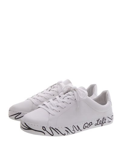 52b07c762 SCHUTZ WHEN NOTHING GOES RIGHT. GO LEFT LEATHER SNEAKER. #schutz #shoes #