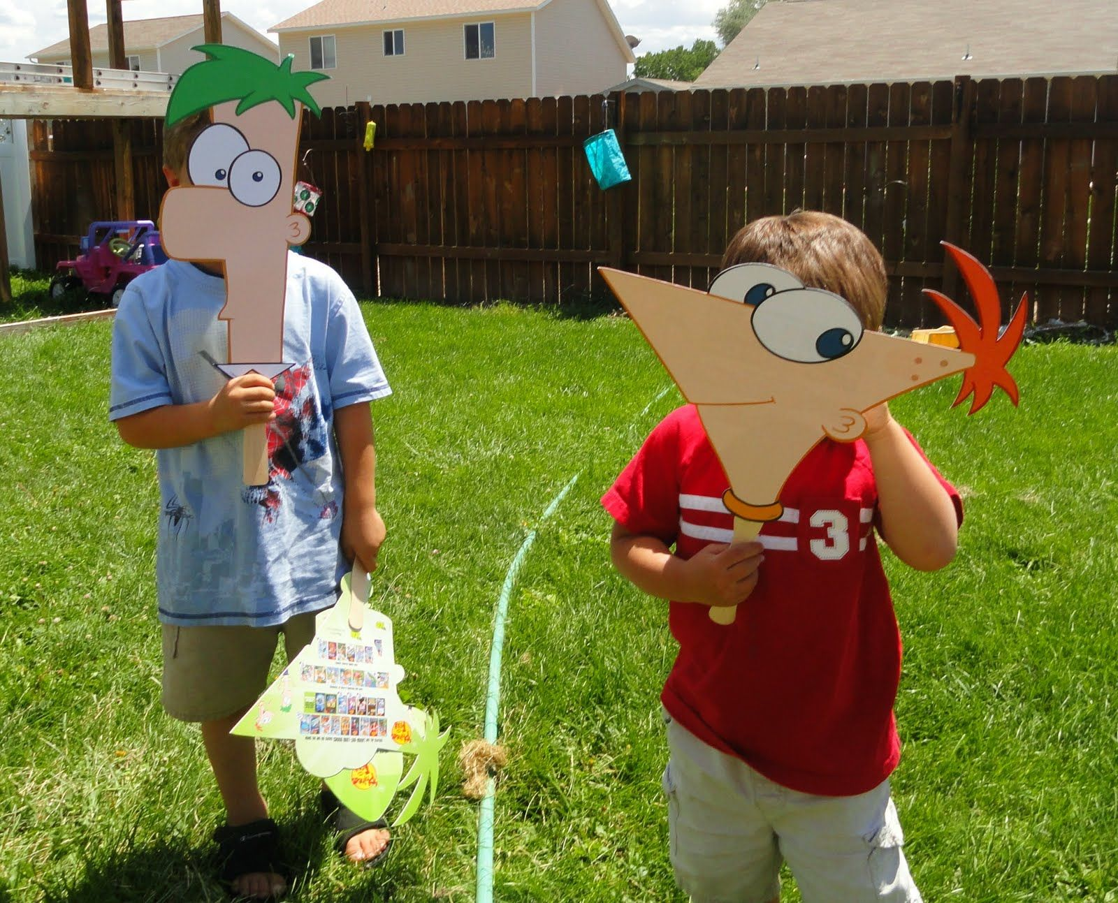 phineas and ferb masks | phineas and ferb party | pinterest | party