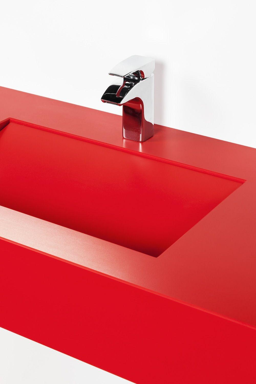 Lavabo armony rosso monza acabado suede bathroom for Lavabo cocina