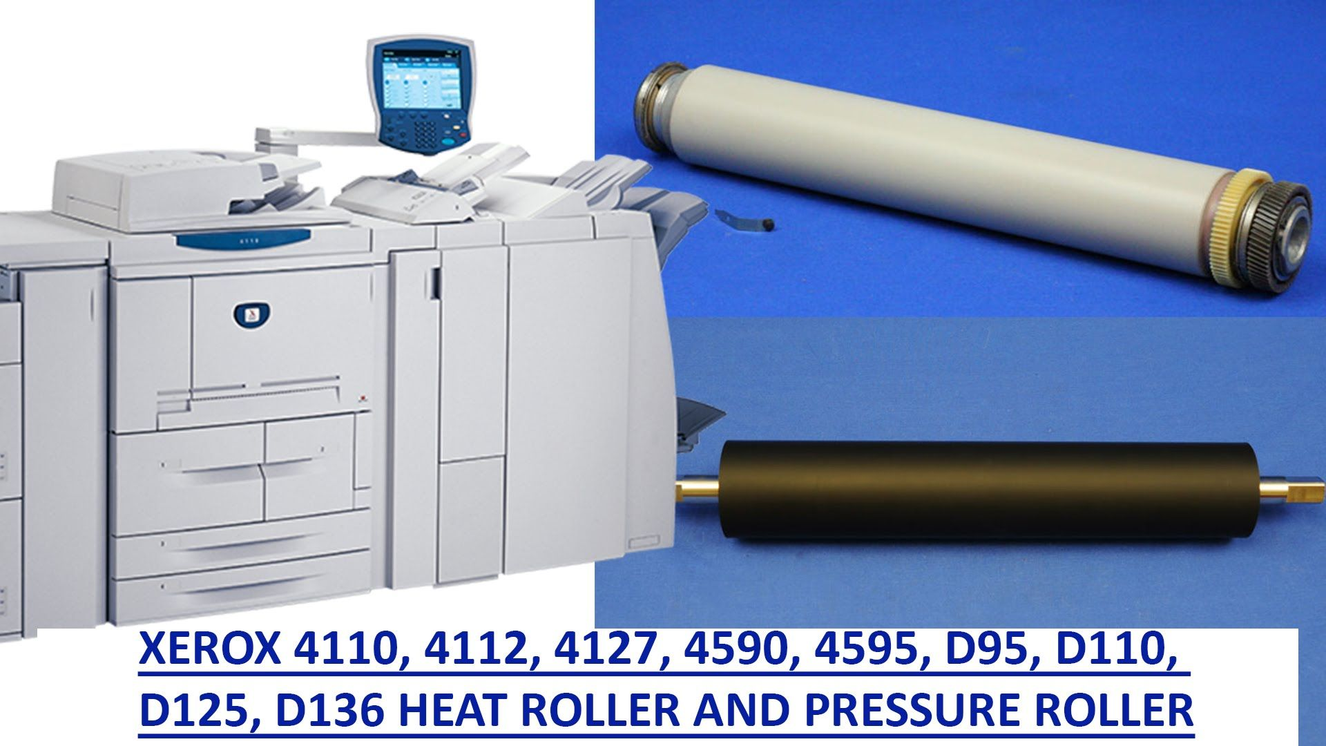 Fuser Heat And Pressure Roller For The 4110 4112 4127 4590