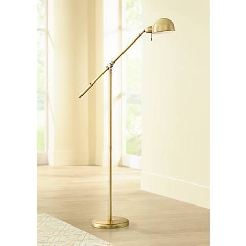 Dawson Antique Brass Pharmacy Floor Lamp With Led Bulb 1k787 12v37 Lamps Plus Pharmacy Floor Lamp Unique Floor Lamps Lamp