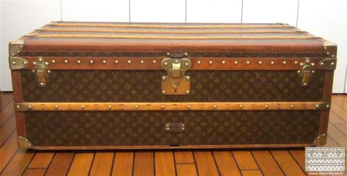 malle louis vuitton trunk lv cabine toile pochoirs tr s ancienne 1925 classic in art antiquit s. Black Bedroom Furniture Sets. Home Design Ideas