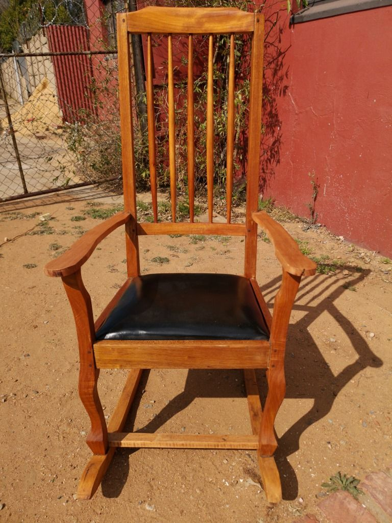 rocking chair height computer with arms wooden to seat 44 cm total of 126 price r1295 cell 0826555762