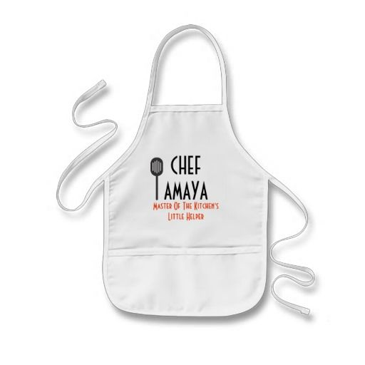 Chef Apron- Little Helper Kids\' Apron | Zazzle.com | Cooking ...