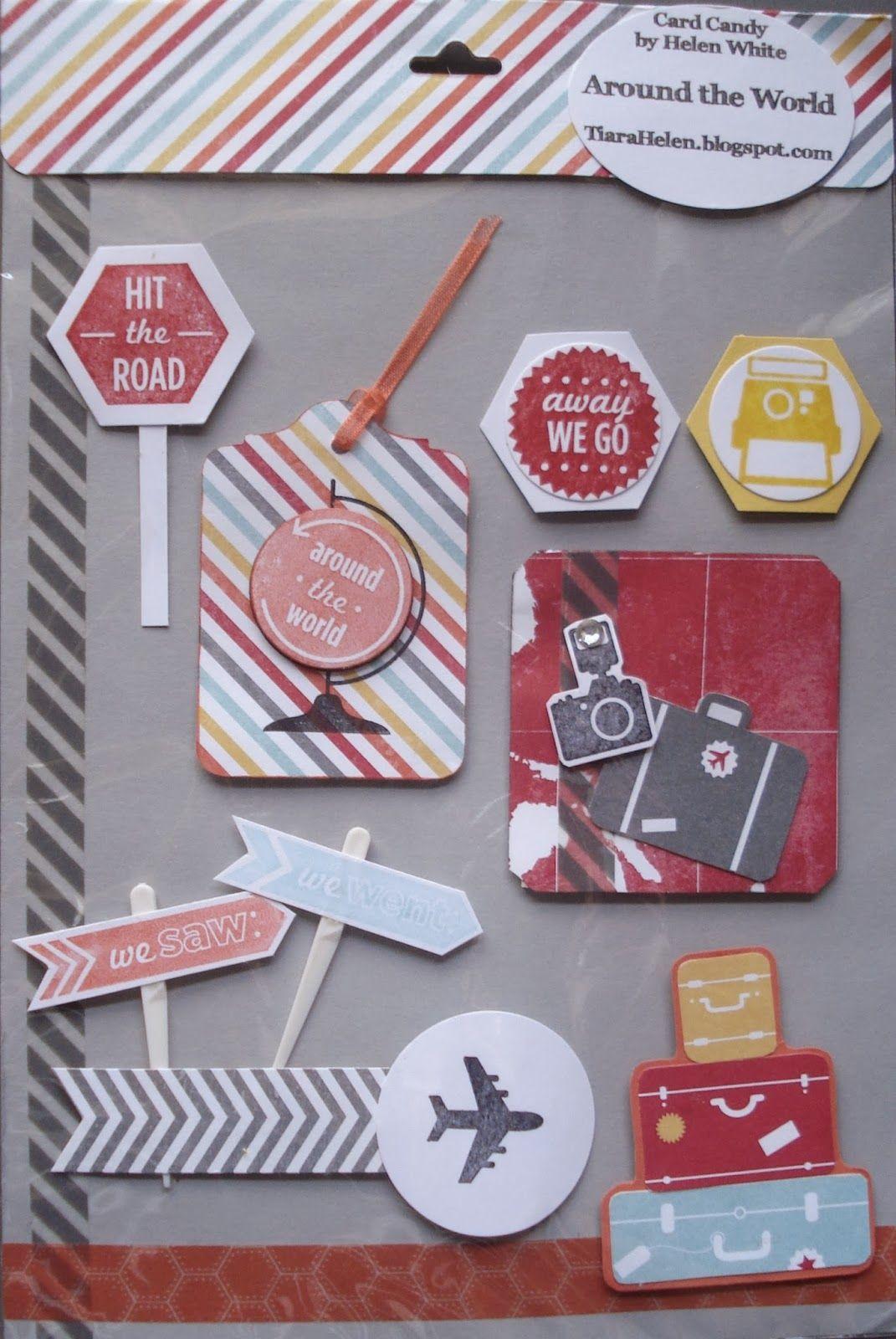 Card Making Embellishment Ideas Part - 48: Travel Layout Embellishments