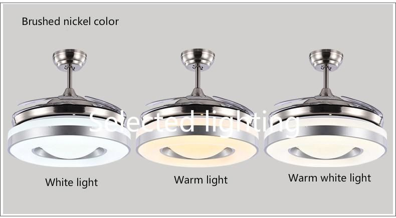 2019 Dimming Remote Control 42inch Led Ceiling Fans Lights With Changeable Light Ceiling Fans