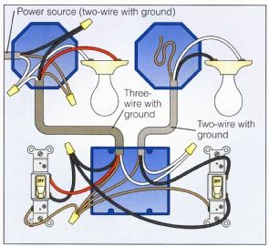 2 way switch with lights wiring diagram electrical in 2019 home Two Lights Two Switches Diagram