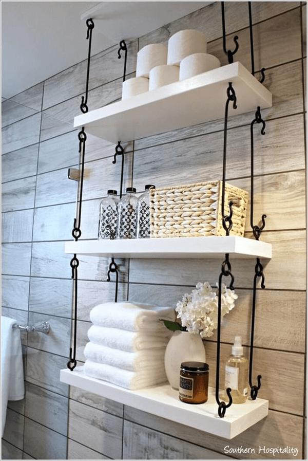 L\'étagère balançoire : une étagère suspendue pratique et esthétique ...
