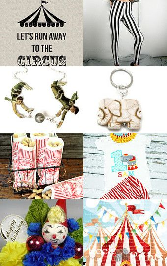 Let's Go To The Circus! by Cathy Christine on Etsy--Pinned+with+TreasuryPin.com