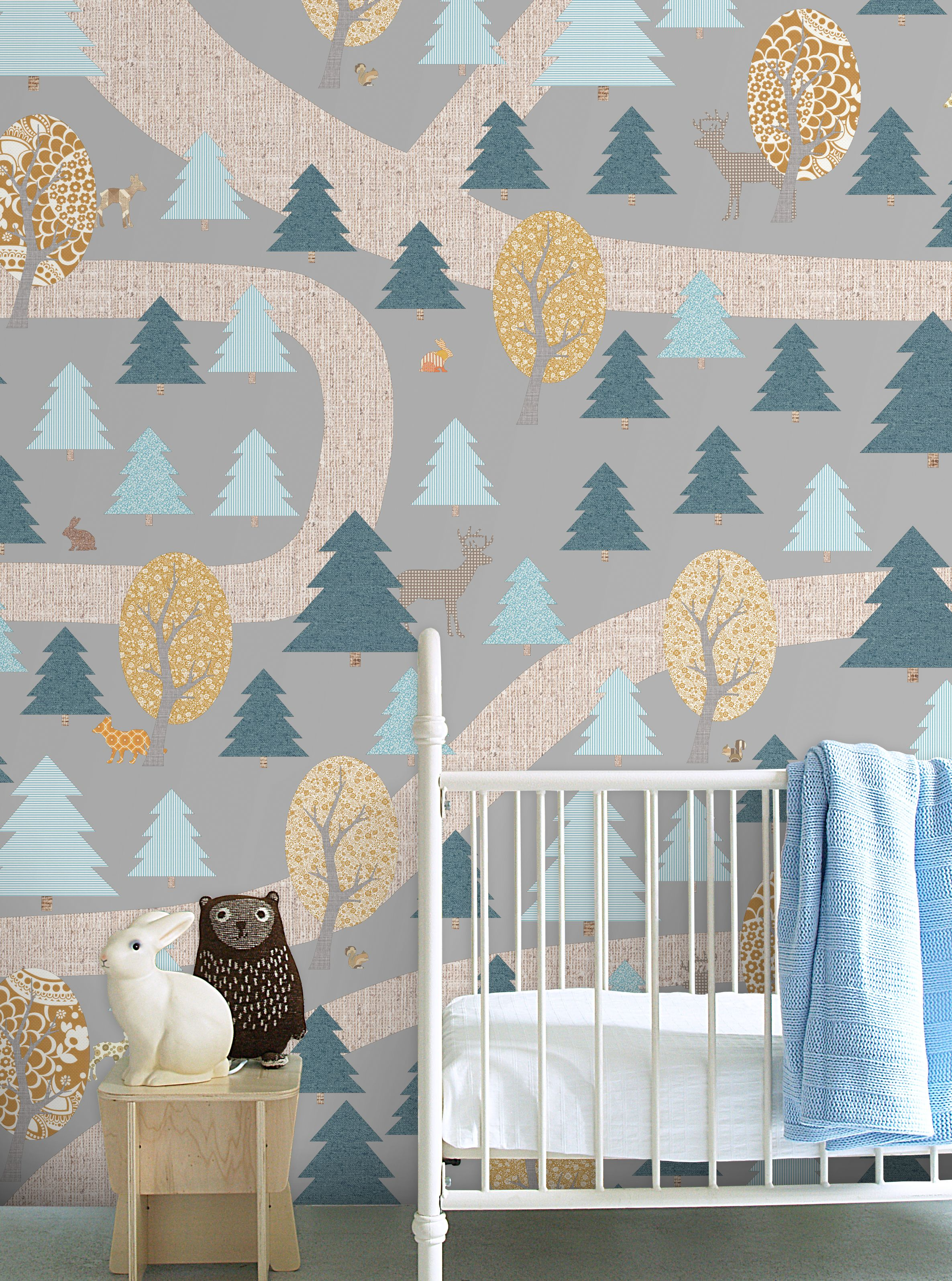 Fantastic wallpaper design that takes you into a wonderful woodland world Woodland Wallpaper by Inke
