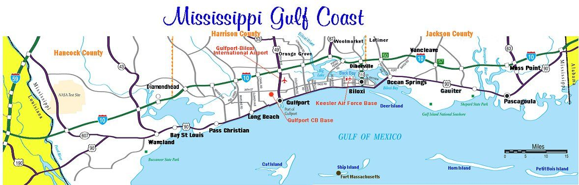 map of mississippi gulf coast cities Mississippi Gulf Coast Towns Back To Www Gogulfcoast Biz Gulf map of mississippi gulf coast cities