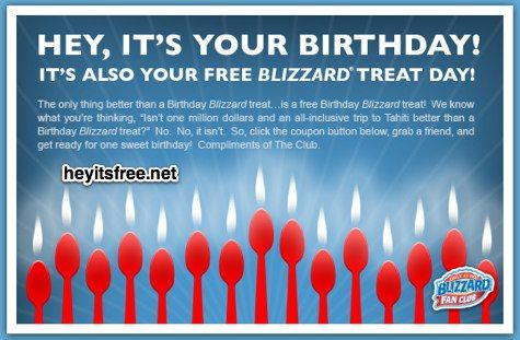 Dairy Queen Birthday Freebie Bogo Coupon For A Free Mini Small Or
