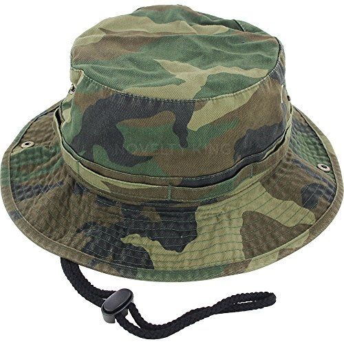 bd155358 DealStock 100% Cotton Boonie Fishing Bucket Men Safari Summer String Hat Cap  (15+