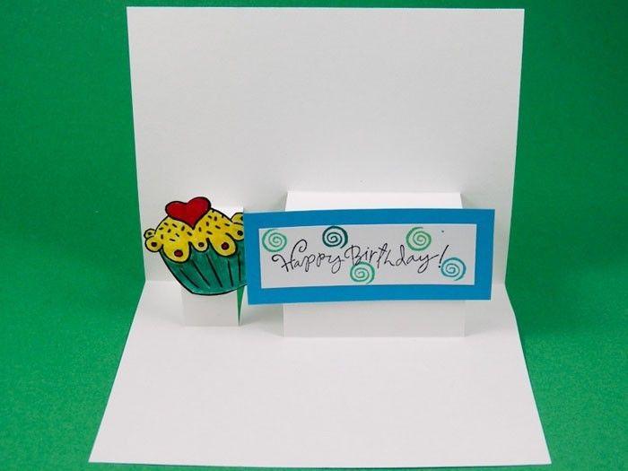 Geburtstagskarte selber basteln Pop Up oder Aufklappkarte mit Anleitung DIY Do it yourself