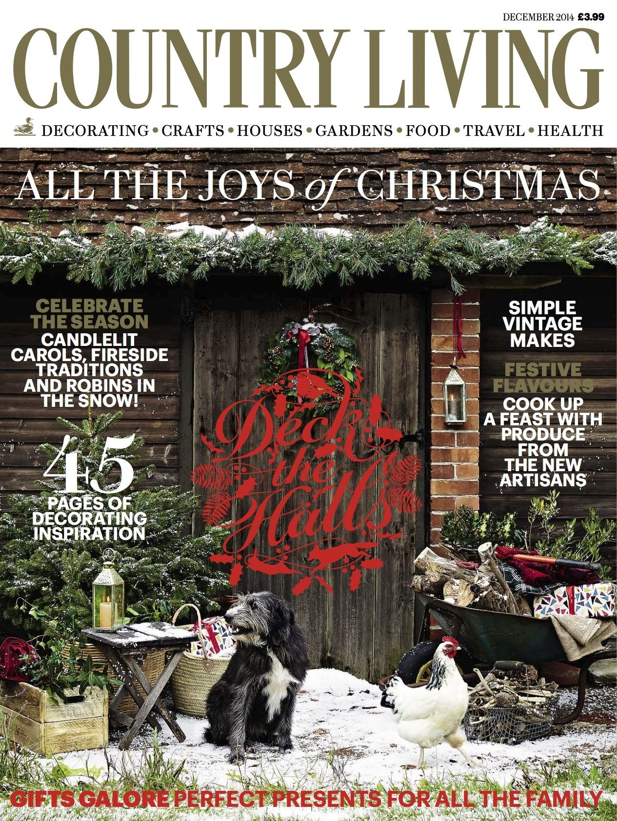 Country Living Magazine December 2014 Cover Luxury