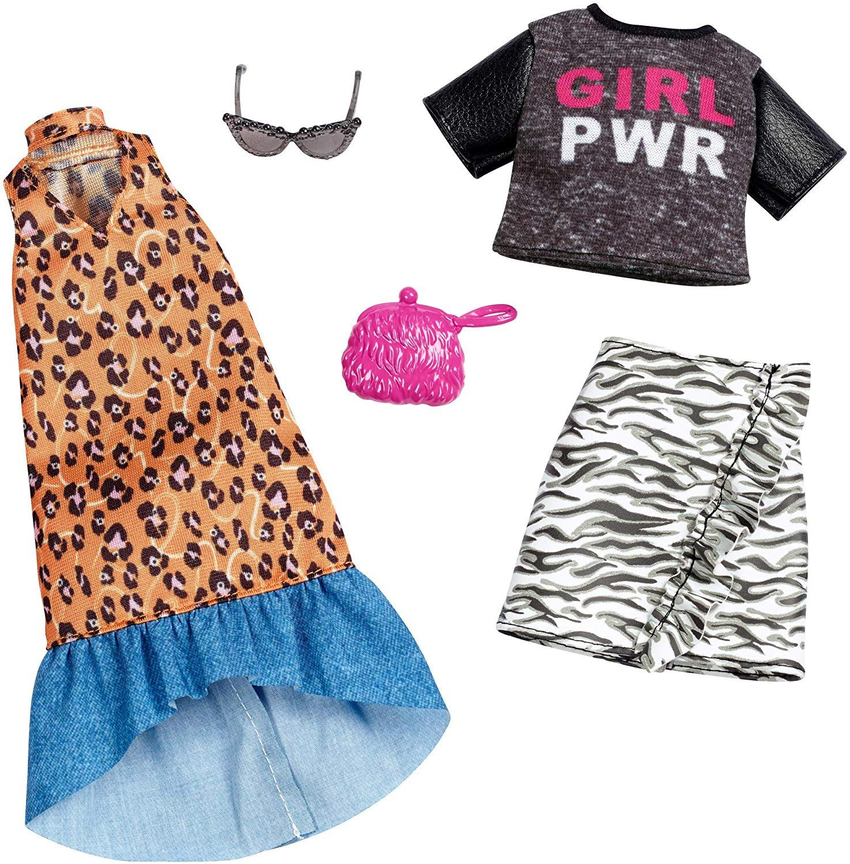 BARBIE /& KEN  2 Pack COMPLETE Outfit Set DRESS /& SHORTS SET BEACH GEAR