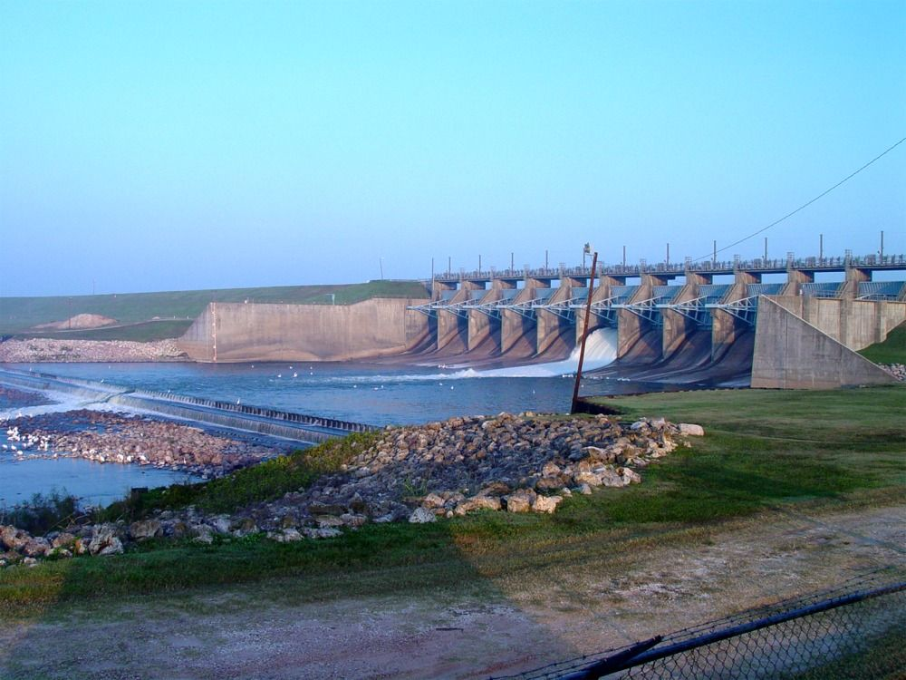 Lake Livingston Dam At Dawn.