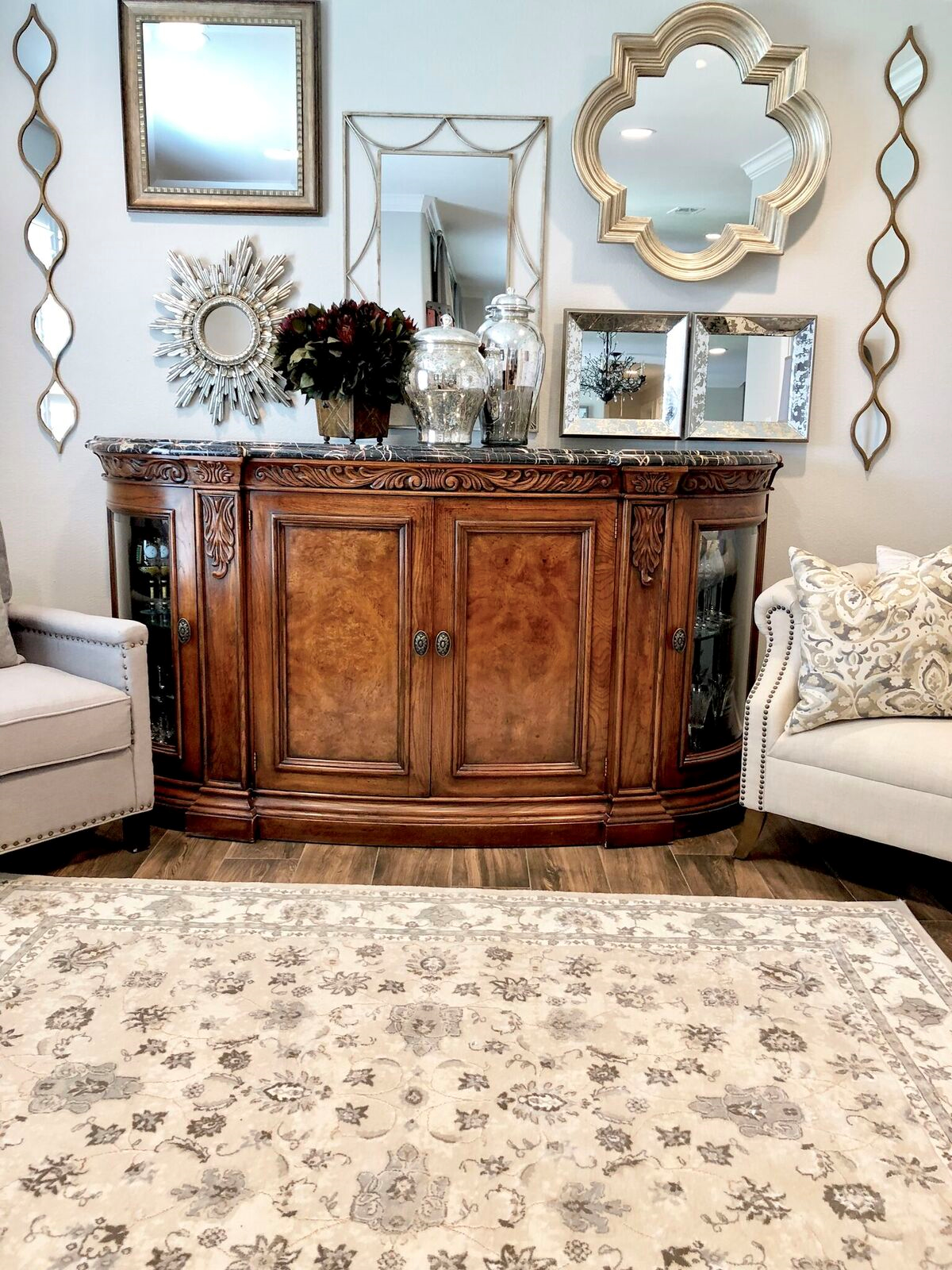 Mixing Traditional Furniture With Modern Day Style L Mixing Styles Modern Home Decor Buffet Table Buf Traditional Furniture Home Decor Console Table Decorating #traditional #furniture #styles #living #room
