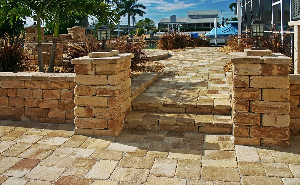 Mega Olde Towne Sand Dune Paver Patio With Stonegate