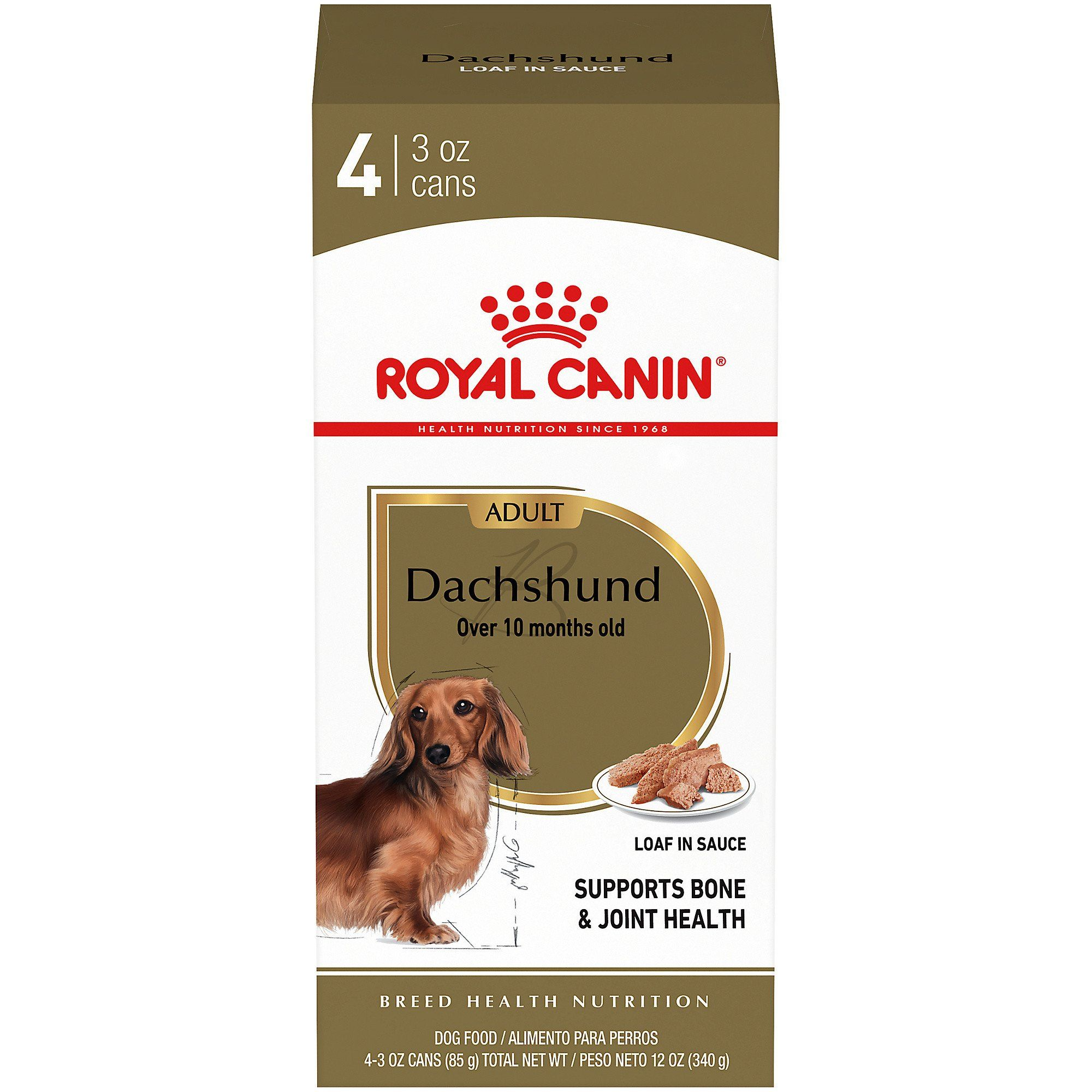 Royal Canin Breed Health Nutrition Dachshund Loaf In Sauce Dog
