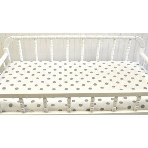 New Arrivals Wink Changing Pad Cover, White & Gray Dot Diaper Changing Pad Cover