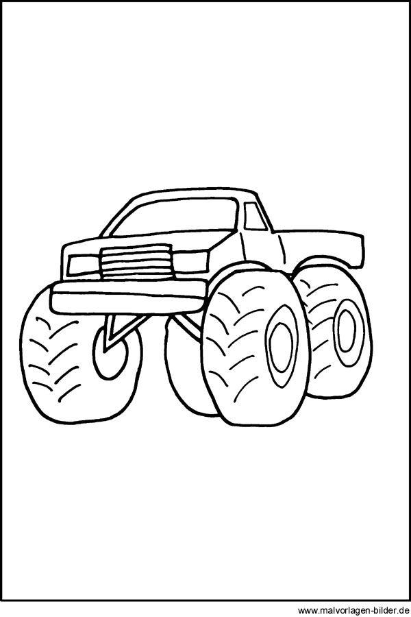 Malvorlagen Monster Truck Gratis | ausmalbilder | Pinterest ...