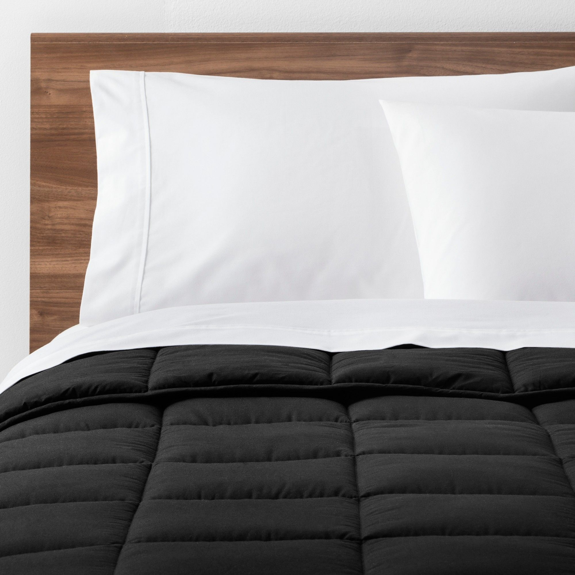 Black Solid Down Alternative Comforter Twin Xl Made By Design