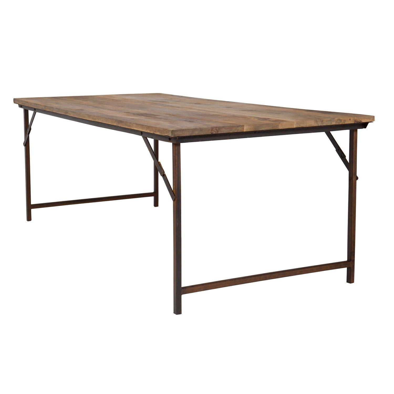 Mesa Comedor Fer De Madera Reciclada Plegable Y Estilo Industrial Estilo Industrial Mesa De Diseno Muebles Unicos