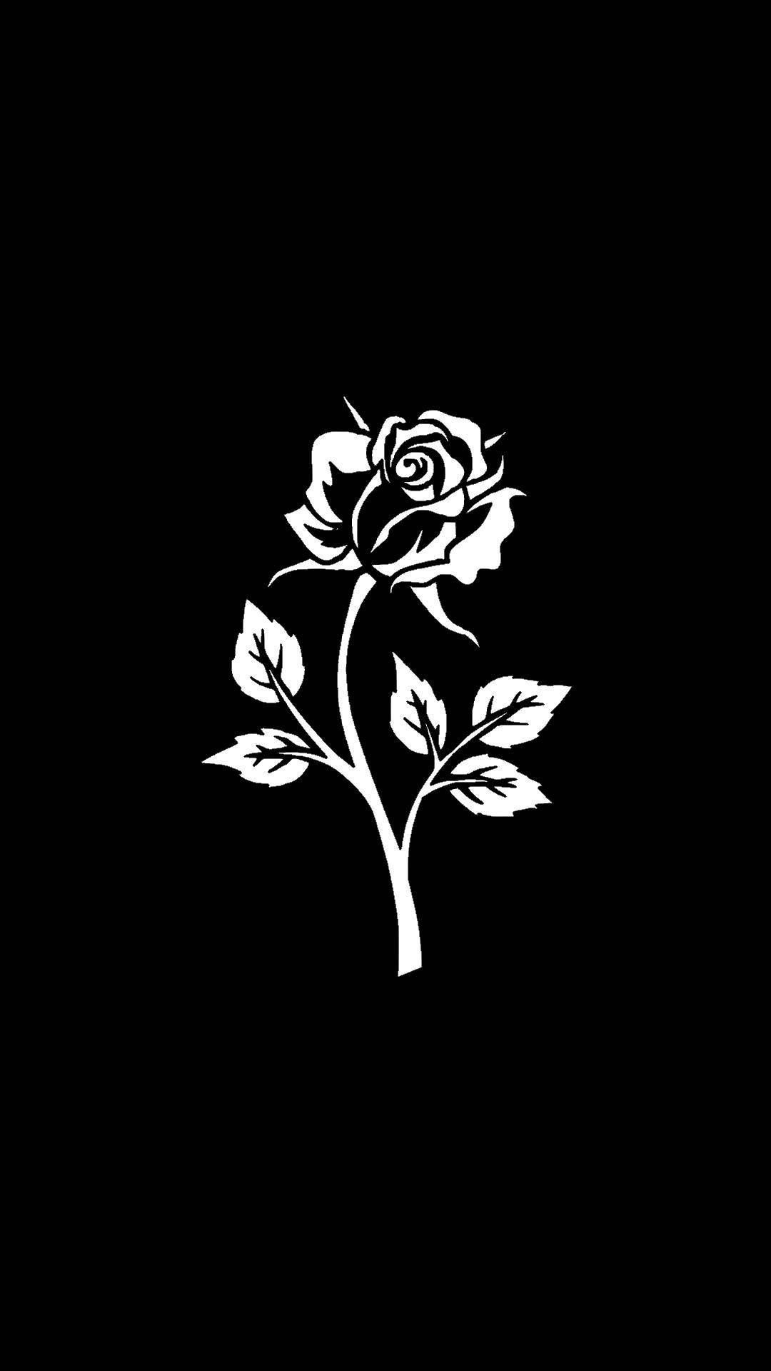 Black Wallpaper On Phone With White Rose Rose Wallpaper Black And White Flowers Pretty Wallpaper Iphone Iphone black and white roses wallpaper