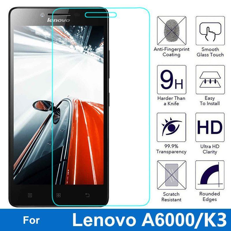 0.3mm Tempered Glass for Lenovo A6000 Screen Protector Protective Film for Lenovo K3 Pelicula HD Front Templado with Clean Tools