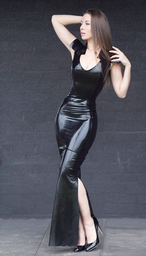 Latex evening gown? | Fashionable Latex and Leather. | Pinterest ...