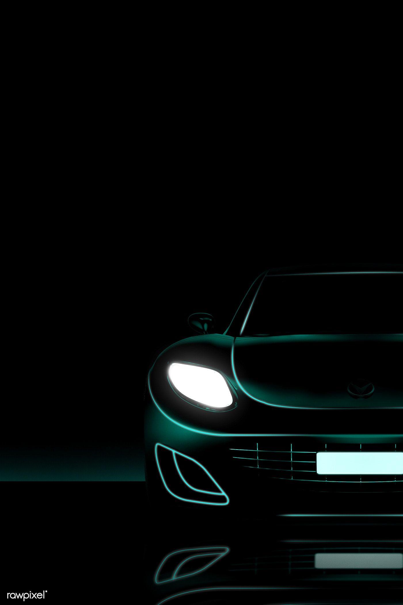 Download Premium Illustration Of Green Neon Sports Car Design 1202415 In 2020 Sports Car Neon Car Car
