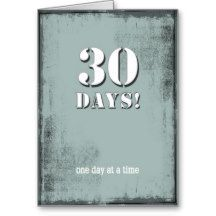 30 days sober clean birthday card for anyone celebrating 30 days in 30 days sober clean birthday card for anyone celebrating 30 days in an alcohol and bookmarktalkfo Choice Image