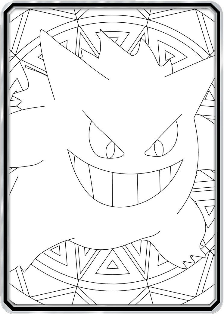 Color Me Gengar Custom Pokemon Coloring Card Pokemon Coloring Pokemon Coloring Pages Color Card