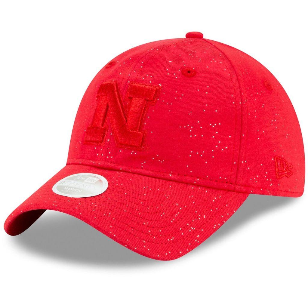 outlet for sale best sale online retailer Women's New Era Scarlet Nebraska Cornhuskers Sparkle 9TWENTY ...